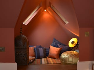 A Loft Conversion where New York meets Marrakech Eclectic style bedroom by Cathy Phillips & Co Eclectic