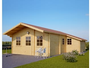 Blockhaus DIJON 44 mm, 43 m²: skandinavische Häuser von Pineca Group