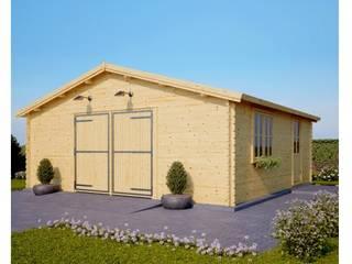 Holzgarage 600 x 600 44 mm, 36 m²: skandinavische Garage & Schuppen von Pineca Group