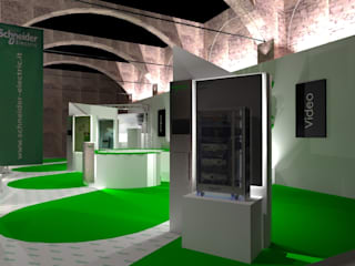 Centros de exhibiciones de estilo  por Studio Arch. Matteo Calvi