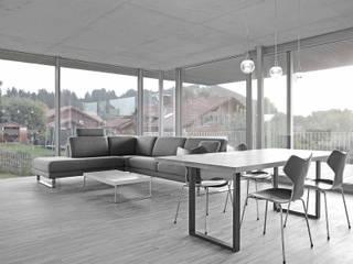 Wohnhaus im Allgäu Moderne Wohnzimmer von dauner rommel schalk architekten Modern