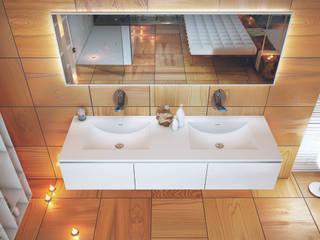 atmosfera di passione ed eleganza nel vivere il bagno:  in stile  di Architettura & Servizi
