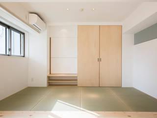 神戸北野のコーポラティブハウス(1)    やさしい家: 一級建築士事務所 狩谷泰男アーキテクツ / Kariya Yasuo Architectsが手掛けた和室です。,