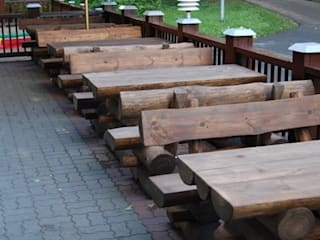 Rustic Garden Furniture Set for Pub and Beer Gardens in UK de Baltic Gardens Ltd Rústico