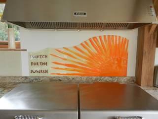 Sunrise Handmade Glass Splashback:   by Glassification
