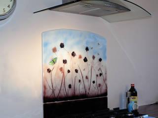 Field of Flowers Glass Splashback:   by Glassification