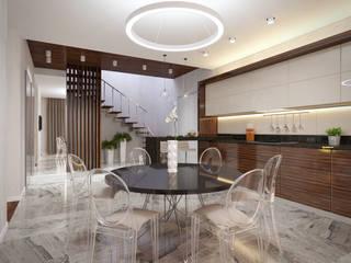 Cuisine de style  par Архитектурно-строительное бюро ID Craft