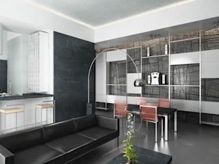 Living room by studioLO architetti
