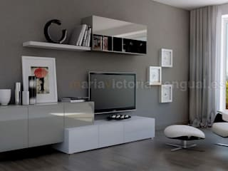 Composiciones para zonas de televisión. de MUMARQ ARQUITECTURA E INTERIORISMO Moderno