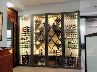 Dragoncellars Dining roomWine racks