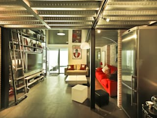 Pablo Echávarri Arquitectura Ruang Keluarga Gaya Industrial