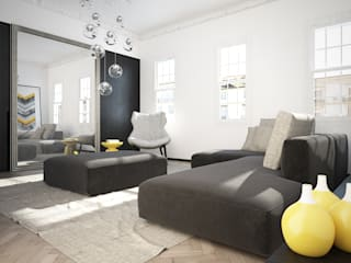 Shoreditch Apartment YAM Studios Modern living room