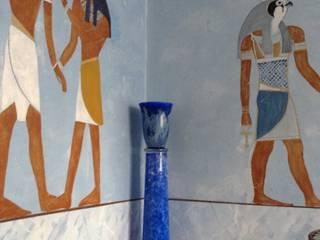 Hinterglasmalerei von Illusionen mit Farbe Kolonial