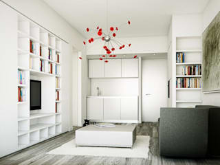 Modern living room by NEAR Network di Architettura Modern
