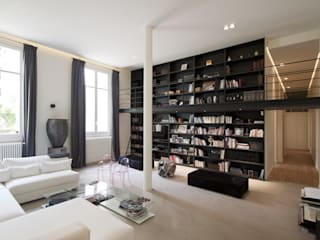 Appartement Luxembourg. Salon: Salon de style  par FELD Architecture