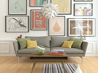 scandinavian Living room by alba najera