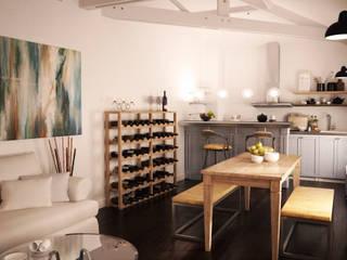 Maison dans le marais: Cuisine de style  par Agence KP