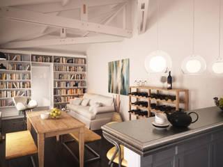 Maison dans le marais: Salon de style  par Agence KP
