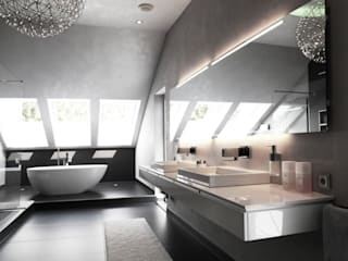Villa St. Wendel:  Badezimmer von Bolz Licht & Wohnen