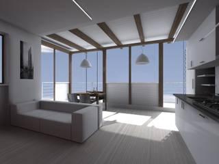 Casa SC - living room: Soggiorno in stile in stile Moderno di Wanda Loizzo Architect