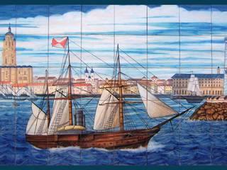 Málaga y barco de Cerámicas Alicia Guerrero Rústico
