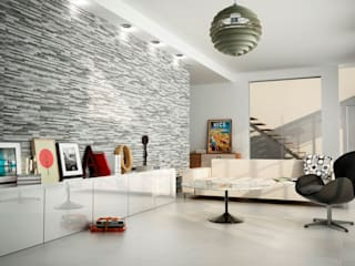 Brix Stratum Anthracite Wall Tiles:   by Tile Mountain