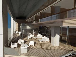 Terraza Exterior: Terrazas de estilo  de Oscar Espinosa