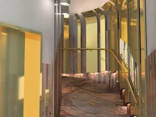 Escalera: Pasillos y vestíbulos de estilo  de Oscar Espinosa