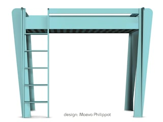 Lit mezzanine couleur de ZineZoé:  de style  par ZineZoé