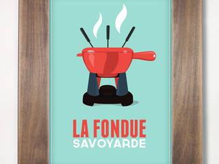 Cheese fondue poster (blue) de CosyNEVE Ecléctico