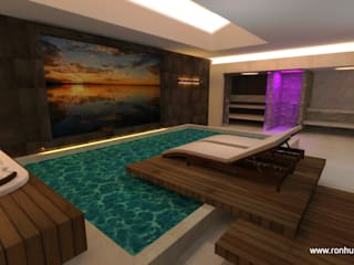 Traum Wellness im Keller: modernes Spa von RON Stappenbelt, Interiordesign