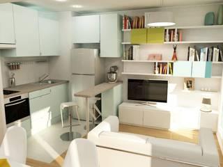 Séjour & cuisine:  de style  par Design By Solène Utard