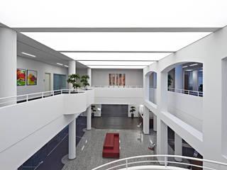 Neu- und Umbau der Volksbank in Neumünster Moderne Bürogebäude von es plant gmbh & co. kg Modern