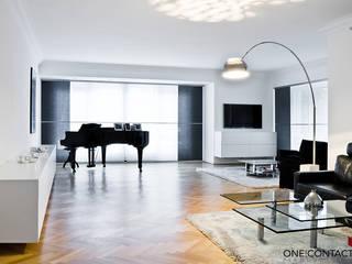 STILLE NOBLESSE:  Wohnzimmer von ONE!CONTACT - Planungsbüro GmbH