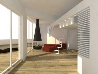 Corredor, hall e escadas  por DELISABATINI architetti