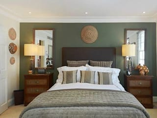 Interior design and sourcing, Knightsbridge, London:  Bedroom by SlightlyQuirky ltd