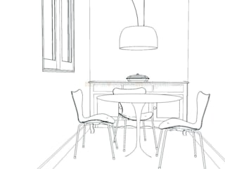 Dining room by MUMARQ ARQUITECTURA E INTERIORISMO
