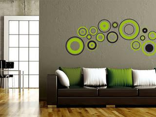 Wandtattoo - Retro Discs grün :  Wände & Boden von K&L Wall Art
