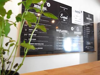 Restaurant Burgers Ernest'inn: Restaurants de style  par Allegre + Bonandrini architectes DPLG