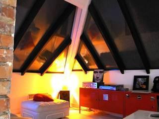 Appartement JKW: Salon de style  par Allegre + Bonandrini architectes DPLG
