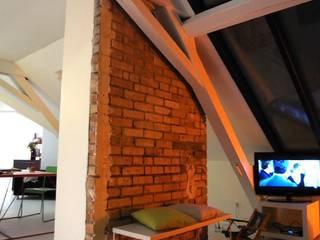 Appartement JKW Salon moderne par Allegre + Bonandrini architectes DPLG Moderne