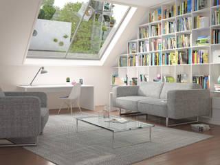 Salas de estilo moderno por deinSchrank.de GmbH