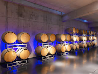 Vineyard Franz Keller - nominee for the German Lighting Design Prize 2014 Modern wine cellar by Tobias Link Lichtplanung Modern