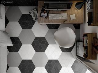 Projekty,  Domowe biuro i gabinet zaprojektowane przez Equipe Ceramicas