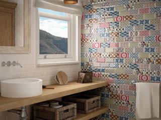 Bagno in stile mediterraneo di Equipe Ceramicas Mediterraneo Ceramica