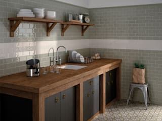 homify Rustic style kitchen Ceramic