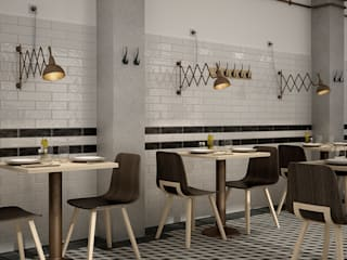 Equipe Ceramicas Ruang Makan Gaya Mediteran Keramik Grey