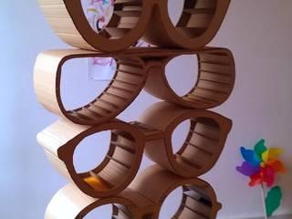 Etagère modulable lunettes. par Mine de Carton Éclectique