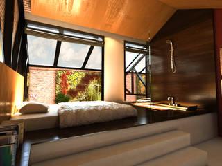 Hotel ShiZen: Dormitorios de estilo  de Luis Vegas