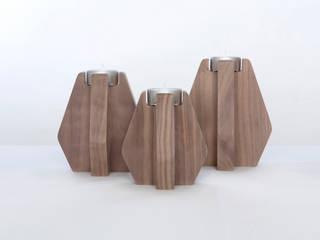 Portavelas Nordik Nogal de Sacanell Design Ecléctico